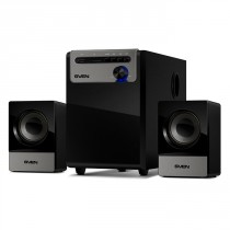 Акустическая система SVEN MS-110 2.1 (2x2.5W + 5W, USB flash, SD card, mp3 player) Black (SV-014056)