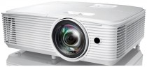 Проектор OPTOMA W318STe Full 3D; DLP, WXGA (1280*800), 3800 ANSI Lm, 22 000:1, Короткофокусный TR 0.521:1; HDMI 1.4a x2 + MHL; VGA (YPbPr/RGB) x2;Composite x1; Mic IN x1; AudioIN x1; VGA Out; Audio Out;USB-A power 1A;RS232; RJ45x1; 10W x1; 26dB; 3.0 кг. (E1P1A29WE1Z1)