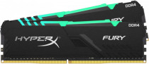 Память KINGSTON 16GB 2666MHz DDR4 CL16 DIMM (Kit of 2) 1Rx8 HyperX FURY RGB (HX426C16FB3AK2/16)
