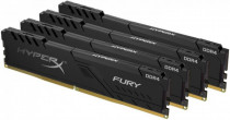 Память KINGSTON 32GB 2400MHz DDR4 CL15 DIMM (Kit of 4) 1Rx8 HyperX FURY Black (HX424C15FB3K4/32)