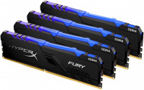 Память KINGSTON 32GB 2400MHz DDR4 CL15 DIMM (Kit of 4) 1Rx8 HyperX FURY RGB (HX424C15FB3AK4/32)