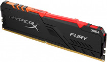Память KINGSTON 8GB 2666MHz DDR4 CL16 DIMM 1Rx8 HyperX FURY RGB (HX426C16FB3A/8)