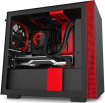 Корпус NZXT Mini-Tower H210 Mini ITX Black/Red Chassis with 2x120mm Aer F Case Fans (CA-H210B-BR)
