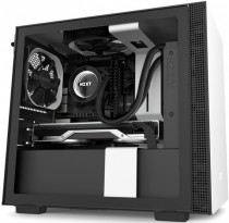 Корпус NZXT Mini-Tower H210 Mini ITX White/Black Chassis with 2x120mm Aer F Case Fans (CA-H210B-W1)