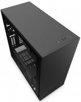 Корпус NZXT H710i Mid Tower Black/Black Chassis with Smart Device 2, 3x120, 1x140mm Aer F Case Fans, 2xLED Strips and Vertical GPU Mount (CA-H710I-B1)