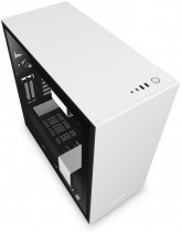 Корпус NZXT H710i Mid Tower White/Black Chassis with Smart Device 2, 3x120, 1x140mm Aer F Case Fans, 2xLED Strips and Vertical GPU Mount (CA-H710I-W1)