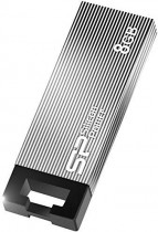 Флеш диск SILICON POWER 8Gb Touch 835 серый USB 2.0 (SP008GBUF2835V1T)