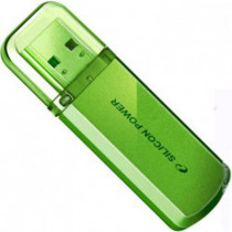 Флеш диск SILICON POWER 8GB USB2.0 Flash Drive SP Helios 101 металл салатовый (SP008GBUF2101V1N)