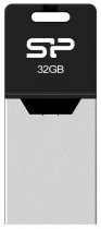 Флеш диск SILICON POWER USB 2.0 32Gb Mobile X20 Black (SP032GBUF2X20V1K)