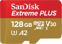 Карта памяти SANDISK Extreme Plus microSDXC 128GB + SD Adapter + Rescue Pro Deluxe 170MB/s A2 C10 V30 UHS-I U3 (SDSQXBZ-128G-GN6MA)