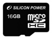 Карта памяти SILICON POWER 16GB microSDHC Class4 w/o adapter (SP016GBSTH004V10)
