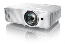 Проектор OPTOMA X308STe Full 3D; DLP, XGA (1024*768), 3500 ANSI Lm, 22 000:1, Короткофокусный TR 0.617:1; HDMI 1.4a x1; VGA (YPbPr/RGB) x1; Composite x1; AudioIN x1; VGA Out; Audio Out; USB-A power 1A; RS232; 10W x1; 3.0 кг. белый [] (E1P1A26WE1Z1)