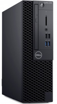 Компьютер DELL Optiplex 3070 SFF i3 9100 (3.6)/8Gb/SSD256Gb/UHDG 630/DVDRW/Windows 10 Professional/GbitEth/200W/клавиатура/мышь/черный (3070-4692)