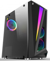 Корпус 1STPLAYER Midi-Tower RAINBOW R5 ATX, tempered glass side panel 3x 120mm LED fans (R5-3R1)