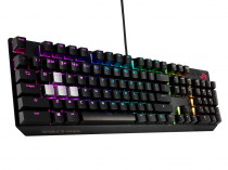 Клавиатура ASUS ROG Strix Scope Cherry MX silent red switches, аллюминивая рама, USB, RGB подсветка, USB port (90MP0185-B0RA00)