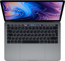 Ноутбук APPLE 13-inch MacBook Pro with Touch Bar - Space Gray: 1.4GHz quad-core 8th-generation Intel Core i5 (TB up to 3.9GHz)/16GB 2133MHz LPDDR3 SDRAM/128GB PCIe-based SSD/Intel Iris Plus Graphics 645 (Z0W4000MY)