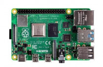 Микрокомпьютер RASPBERRY PI 4 Model B Retail, 4GB RAM, Broadcom BCM2711 Quad core Cortex-A72 (ARM v8) 64-bit SoC @ 1.5GHz CPU, WiFi, Bluetooth, 40-pin GPIO, 2x USB 3.0, 2x USB 2.0, 2x micro-HDMI, CSI camera port, DSI display port, Micro SD port, USB-C 5V Power (RA545)