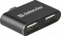 USB хаб DEFENDER Quadro Dual USB3.1 TYPE C - USB2.0, 2порта (83207)