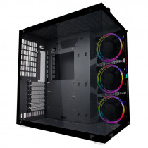Корпус 1STPLAYER STEAM PUNK SP8 ATX, tempered glass side panel, RGB fans controller & remote 3x 120mm RGB fans inc. (SP8-G3)