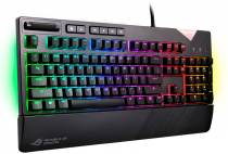 Клавиатура ASUS ROG Strix Flare Silent (Cherry MX Silent red switches, USB, RGB подсветка, USB port, ) (90MP00M5-B0RA00)