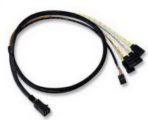 Кабель LSI CBL-SFF8643-SATASB-10M ( / L5-00221-00), INT SFF8643-to-4*SATA+SB (MiniSAS HD -to- 4*SATA+SideBand internal cable) 100cm (LSI00411)
