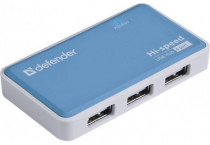 USB хаб DEFENDER USB Quadro Power USB2.0, 4порта, блок питания2A (83503)
