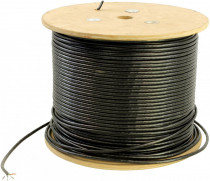 Кабель 5BITES US5505-305C(P)E UTP SOLID 5E 24AWG COPPER PVC+PE BLACK OUTDOOR DRUM 305M (US5505-305CPE)
