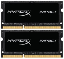 Память KINGSTON 8GB 1600MHz DDR3L CL9 SODIMM (Kit of 2) 1.35V HyperX Impact Black (HX316LS9IBK2/8)
