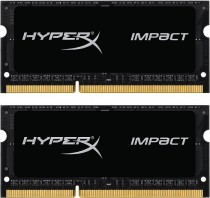 Память KINGSTON 16GB 1600MHz DDR3L CL9 SODIMM (Kit of 2) 1.35V HyperX Impact Black (HX316LS9IBK2/16)