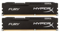 Память KINGSTON 16GB DDR3L 1866 DIMM HyperX FURY Black Non-ECC, CL11, 1.35V, Kit (2x8GB), Retail (HX318LC11FBK2/16)
