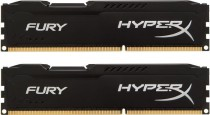 Память KINGSTON 8GB 1333MHz DDR3 Non-ECC CL9 DIMM (Kit of 2) HyperX FURY Black Series (HX313C9FBK2/8)