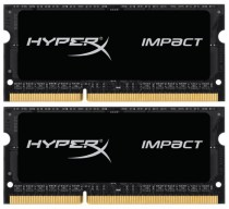 Память KINGSTON 16GB 1866MHz DDR3L CL11 SODIMM (Kit of 2) 1.35V HyperX Impact (HX318LS11IBK2/16)