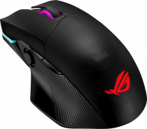 Мышь ASUS ROG Chakram беспроводная 2.4GHz/Bluetooth, Qi, RGB LED, 6 кнопок, Omron, 16000 dpi, black, USB (90MP01K0-BMUA00)