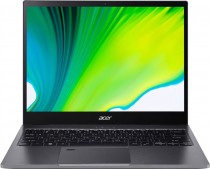 Ноутбук ACER Spin 5 Transformer SP513-54N-73KV, 13.5QHD (2256x1504) IPS Touch,Core i7-1065G7 1.30Ghz, 16GB DDR4, 1TB SSD, Intel Iris Plus Graphics, WiFi, BT, FPR, HD Cam, 56Wh, Win 10 Pro64, 3Y, Iron (NX.HQUER.003)