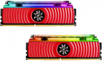 Память ADATA 16GB DDR4 3600 DIMM XPG SPECTRIX D80 RGB Red Gaming Memory Non-ECC, CL18, 1.35V, 1024x8, Kit (2x8GB), RTL (774459) (AX4U360038G18A-DR80)
