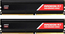 Память AMD 16GB DDR4 2400 DIMM RADEON R7 Performance Series Black Gaming Memory Non-ECC, CL16, 1.2V, Heat Shield, Kit (2x8GB), RTL (R7S416G2400U2K)