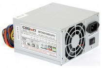 Блок питания CROWN 20+4in, 80mm FAN, SATA*2, PATA(big Molex)*3, FDD*1, 4+4pin, Lines 1x12V OEM (CM-PS400W)