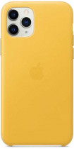 Чехол APPLE iPhone 11 Pro Max Leather Case - Meyer Lemon (MX0A2ZM/A)