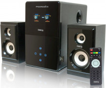 Акустическая система DIALOG Progressive - 2.1, 30W+2*12W RMS, USB+SD reader (AP-220 black)