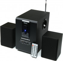 Акустическая система DIALOG Progressive BLACK - 2.1, 30W+2*15W RMS, USB+SD reader (AP-150 Black)