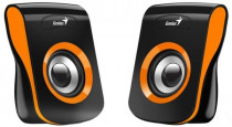 Акустическая система GENIUS Geinus SP-Q180, 2.0, 2 x 3W RMS, USB-power, Orange (31730026402)