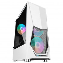 Корпус 1STPLAYER DK-3 WHITE ATX, tempered glass 3x 120mm LED fans inc. (DK-3-WH-3G6)