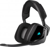 Гарнитура CORSAIR Gaming VOID RGB ELITE Wireless Premium Gaming Headset with 7.1 Surround Sound, Carbon (CA-9011201-EU)