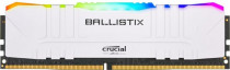 Память CRUCIAL DRAM Ballistix White RGB 8GB DDR4 3200MT/s CL16 Unbuffered DIMM 288pin White RGB, EAN: 649528824738.(RCIS) (BL8G32C16U4WL)