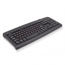 Клавиатура LIME USB Standart Black 104 keyboard with RUS/LAT keys, Rus(red)/Lat(white),LOGO: (logo color: white),brown box, cable: 1.5 m (K-0494 RL)