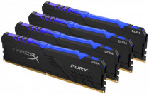 Память KINGSTON DDR 4 DIMM 32Gb PC28800, 3600Mhz, HyperX FURY RGB CL17 (Kit of 4) (retail) (HX436C17FB3AK4/32)