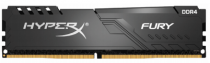 Память KINGSTON DDR 4 DIMM 64Gb PC19200, 2400Mhz, HyperX FURY Black CL15 (Kit of 4) (retail) (HX424C15FB4K4/64)
