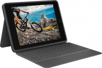 Клавиатура LOGITECH футляр Rugged folio for iPad (7th generation), Graphite, RUS (920-009619)