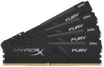 Память KINGSTON DDR 4 DIMM 64Gb PC24000, 3000Mhz, HyperX FURY Black CL16 (Kit of 4) (retail) (HX430C16FB4K4/64)