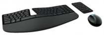 Клавиатура + мышь MICROSOFT +цифровой блок Sculpt Ergonomic Desktop wireless (L5V-00017)